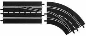 CARRERA DIGITAL 132 - Spurwechselkurve rechts, außen nach innen
