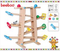 Beeboo Holz Kugelbahn mit Rollelementen