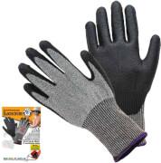 CORVUS Kids at Work - Schnitzschutz-Handschuhe, Gr. S, schwarz-grau, ab 8 Jahre