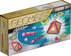 Geomag Glitter 22 - Magnet-Konstruktions-Set, 22-teilig, Kunststoff/Metall