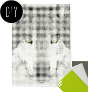 dot on art - DIY-Klebeposter, Bastelset, Stickerset - Motiv:  Wolf, 50x70 cm