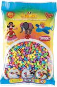 HAMA 201-50 Bügelperlen Midi - Pastell Mix 3000 Perlen, 6 Farben, ab 5 Jahren