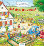 Pappbuch, ''Allererstes Wimmelbuch, Auf dem Bauernhof''. 16 Seiten, für Kinder ab 2 Jahre.