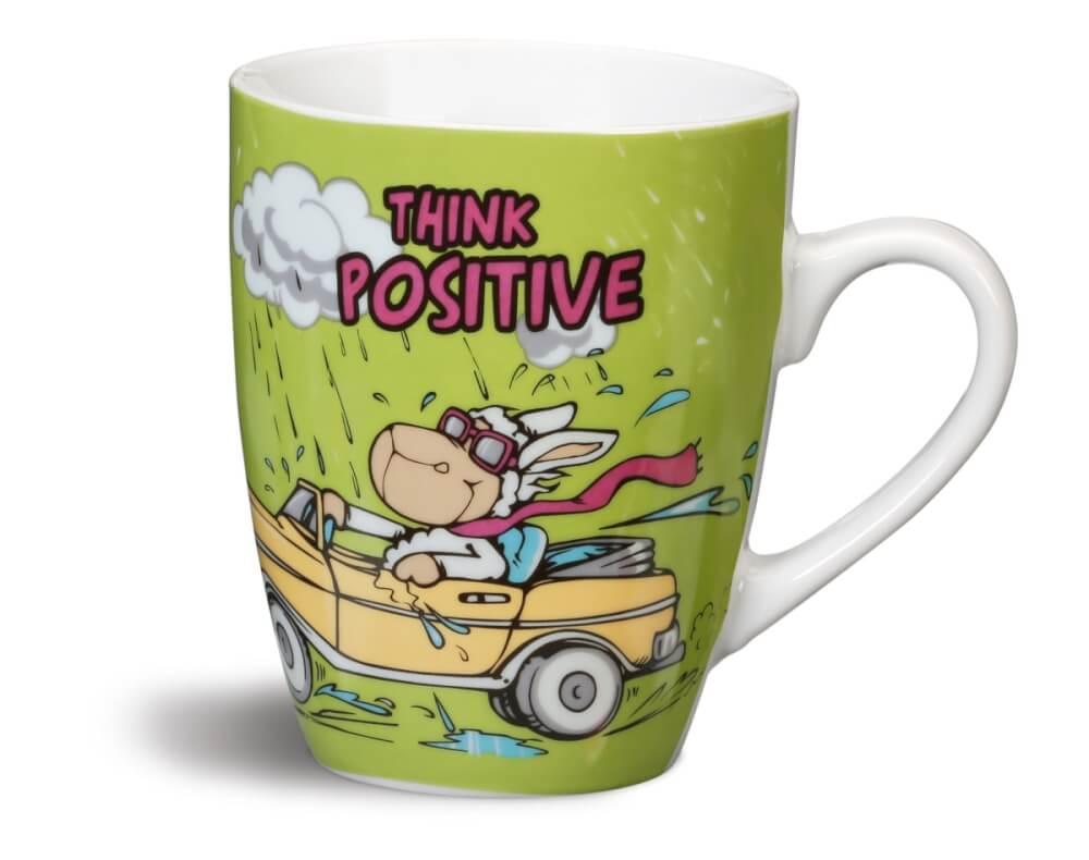 da149a0c1ea NICI Tasse ''THINK POSITIVE!'' Porzellan 38600 ▷ jetzt kaufen ...